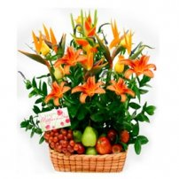Fruit and Flowers Basket for Mom, Dominicana